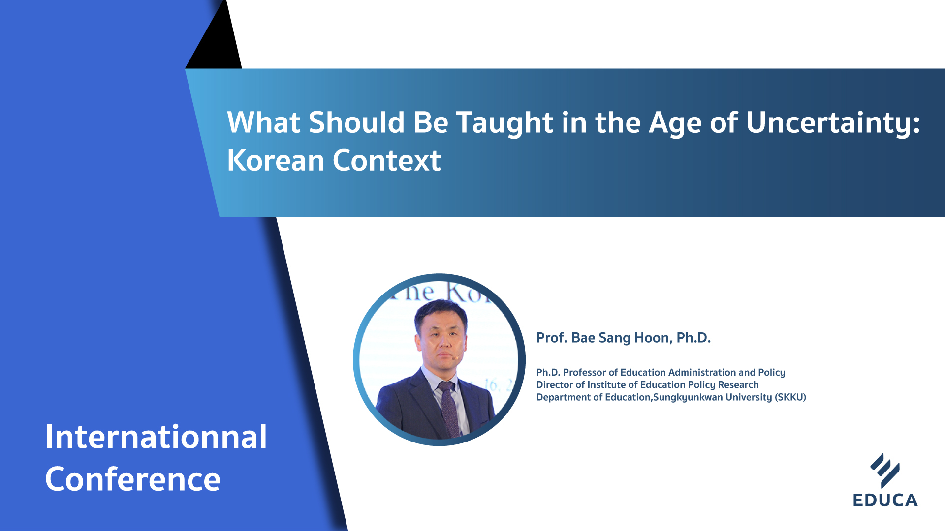 What Should Be Taught in the Age of Uncertainty: Korean Context