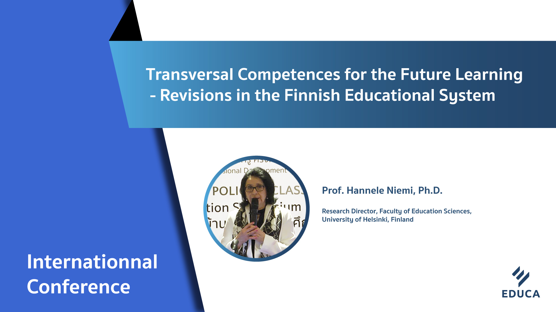 Transversal Competences for the Future Learning - Revisions in the Finnish Educational System
