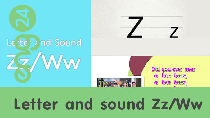 Letter and sound: Zz / Ww