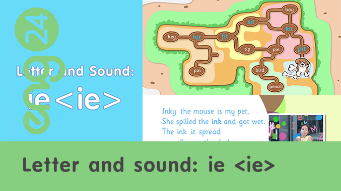 Letter and sound: ie <ie>