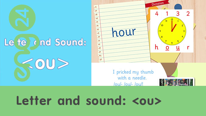 Letter and sound: <ou>