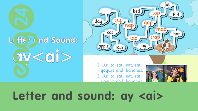 Letter and sound: ay <ai>