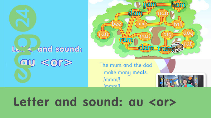Letter and sound: au <or>
