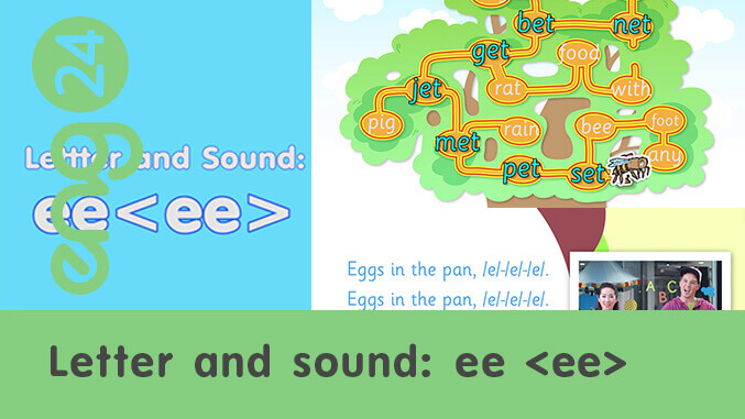 Letter and sound: ee <ee>